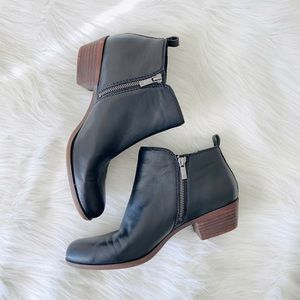 Lucky brand ankle leather booties